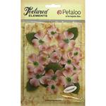 """Lavender - Textured Elements Canvas Dogwood Blossoms 1"""" - 1.5"""" 24/Pkg"""