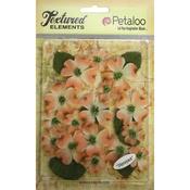 "Peach - Textured Elements Canvas Dogwood Blossoms 1"" - 1.5"" 24/Pkg"