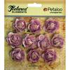 """Lavender - Textured Elements Mini Canvas Rosettes 1"""" 10/Pkg"""