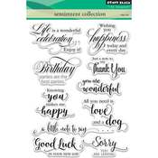 "Sentiment Collection - Penny Black Clear Stamps 5""X7"""