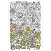 """Large Floral - Zenbroidery Stamped Embroidery 10""""X16"""""""
