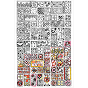 "Cubist - Zenbroidery Stamped Embroidery 10""X16"""