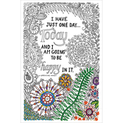 """Be Happy - Zenbroidery Stamped Embroidery 10""""X16"""""""