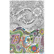 """Dream - Zenbroidery Stamped Embroidery 10""""X16"""""""