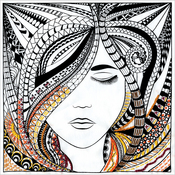 """Woman - Zenbroidery Stamped Embroidery 10""""X10"""""""