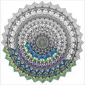 "Mandala - Zenbroidery Stamped Embroidery 10""X10"""