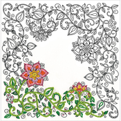 "Garden - Zenbroidery Stamped Embroidery 10""X10"""
