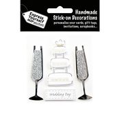Wedding Cake & Champagne Glasses - Express Yourself MIP 3-D Stickers