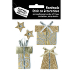 Gold Gift Boxes & Stars - Express Yourself MIP 3-D Stickers
