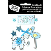 Blue Stork & Elephant - Express Yourself MIP 3-D Stickers