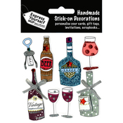Bottles & Glasses - Express Yourself MIP 3-D Stickers