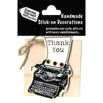 Thank You Typewriter - Express Yourself MIP 3-D Stickers