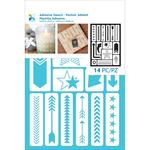 "Arrows & Stars - Momenta Adhesive Stencils 6""X8"""