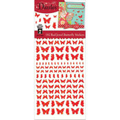Jewel Butterflies-Red - Dazzles Stickers