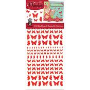 Jewel Butterflies-Red - Dazzles Stickers