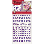Jewel Butterflies-Purple - Dazzles Stickers