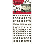 Jewel Butterflies-Black - Dazzles Stickers