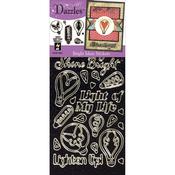 Bright Ideas-Black - Dazzles Stickers