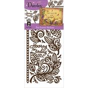 Zen Leaves-Brown - Dazzles Stickers