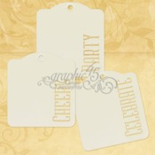 Cheers, Party, Celebrate Ivory Tags - Graphic 45