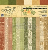 Safari Adventure 12 x 12 Solids & Patterns Paper Pad - Graphic 45