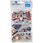 Baseball Batter Up - Paper House 3D Stickers
