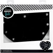 """Heart 12.5""""X11.5""""X1"""" - Heidi Swapp Marquee Love Chalkboard Shape"""