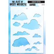 """Clouds - Brett Weldele Stencils 6.5""""X4.5"""""""
