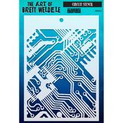 """Circuit - Brett Weldele Stencils 6.5""""X4.5"""""""