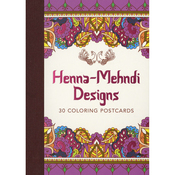 Henna-Mehndi 30 Coloring Postcards - Lark Books