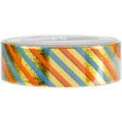 Blue Red Gold Stripes - Love My Tapes Foil Washi Tape 15mmx10m