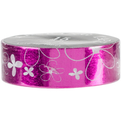 Pink White Flowers - Love My Tapes Foil Washi Tape 15mmx10m