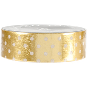 Gold White Dots Small - Love My Tapes Foil Washi Tape 15mmx10m