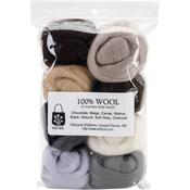 "Neutrals - Wool Roving 12"" .25oz 8/Pkg"