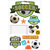Soccer Champ - Paper House 3D Stickers