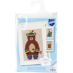 "4.2""X6"" 18 Count Set Of 3  - Indian Bear Greeting Cards On Aida Counted Cross Stitch Kit"