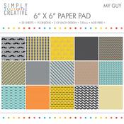 "My Guy - Simply Creative Paper Pad 6""X6"" 30/Pkg"
