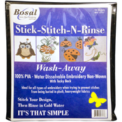 "8.5""X11"" 10/Pkg - Stick-Stitch-N-Rinse Wash-Away Stabilizer"