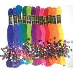 Brights 12/Pkg - Zenbroidery Stitching Trim Pack