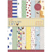Country Life, Linen Finish - Papermania A4 Paper Pack 24/Pkg