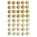 Champagne Mix - Bling Self-Adhesive Round Jewels 12mm 40/Pkg