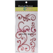 Red - Bling Self-Adhesive Jewel Swirls 468/Pkg