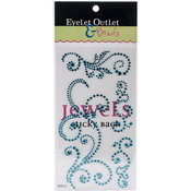 Teal Blue - Bling Self-Adhesive Jewel Swirls 468/Pkg