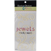 Off White - Bling Self-Adhesive Pearl Swirls 468/Pkg