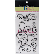Black - Bling Self-Adhesive Pearl Swirls 468/Pkg