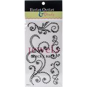 Black - Bling Self-Adhesive Pearl Swirls 468/Pkg