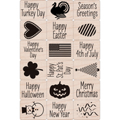 """A Year Of Holiday - Hero Arts Ink 'n Stamp Tub 3""""X4"""""""