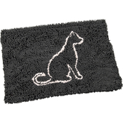 "Gray - Clean Paws Cat Mat 35""X24"""