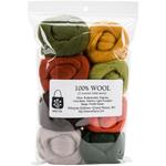 """Pumpkin Patch - Wool Roving 12"""" .25oz 8/Pkg"""