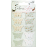 Dovecraft Floral Muse Cardstock Butterflies 10/Pkg
